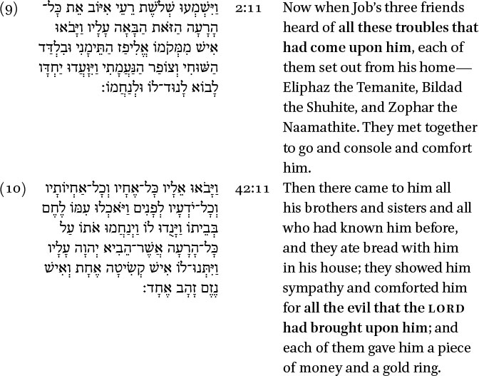 examples of theodicy in the book of job
