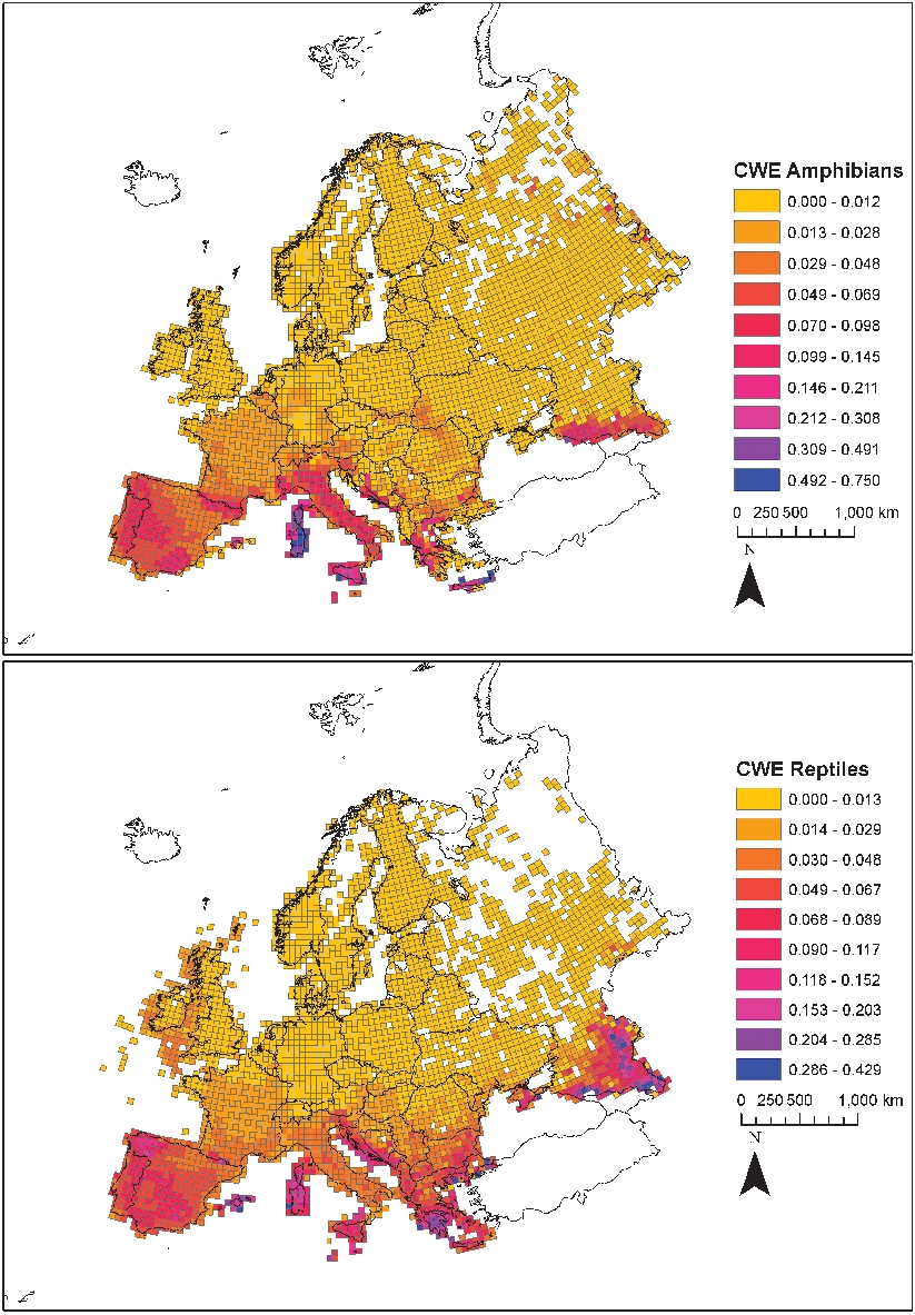 updated distribution and biogeography of amphibians and reptiles of