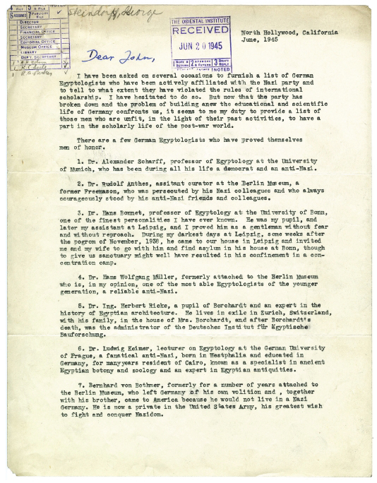 Ägyptologen im Dritten Reich: Biographische Notizen anhand der ...