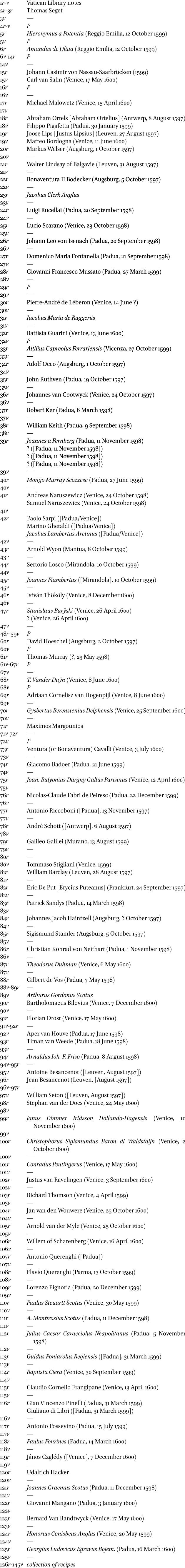 6d207c451b9 The Wandering Scot Thomas Seget s album amicorum in  Nuncius Volume ...