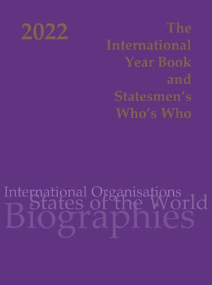 Cover The International Year Book and Statesmen's Who's Who