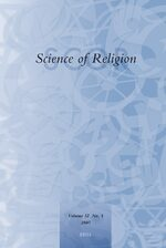 Cover Science of Religion
