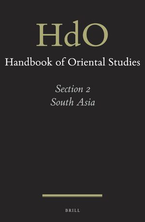 Cover Handbook of Oriental Studies. Section 2 South Asia