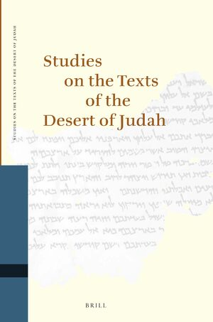 Cover Studies on the Texts of the Desert of Judah