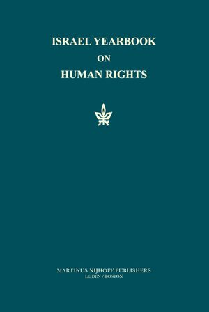 Cover Israel Yearbook on Human Rights