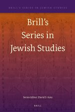 Cover Brill's Series in Jewish Studies
