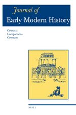 Cover Journal of Early Modern History