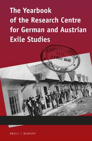 Cover Yearbook of the Research Centre for German and Austrian Exile Studies