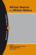Cover African Sources for African History