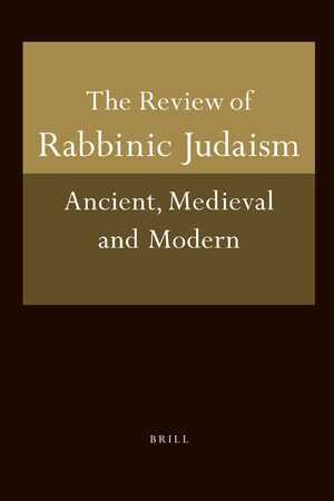 Cover Review of Rabbinic Judaism