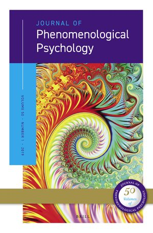 Cover Journal of Phenomenological Psychology