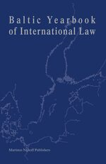 Cover Baltic Yearbook of International Law