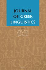Journal of Greek Linguistics