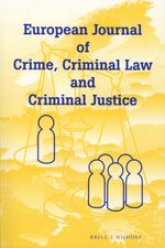 Cover European Journal of Crime, Criminal Law and Criminal Justice