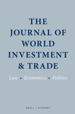 Cover The Journal of World Investment & Trade