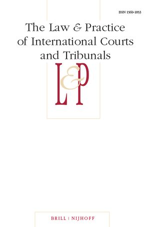 Cover The Law & Practice of International Courts and Tribunals
