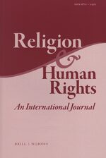 Cover Religion & Human Rights