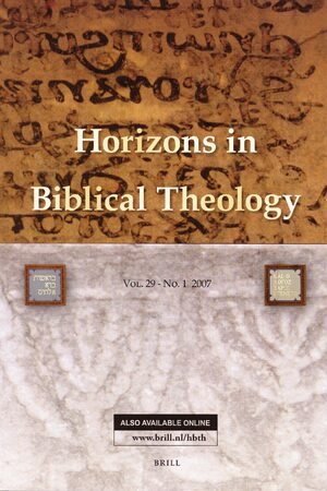 Horizons in Biblical Theology