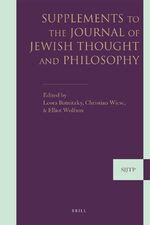 Cover Supplements to The Journal of Jewish Thought and Philosophy