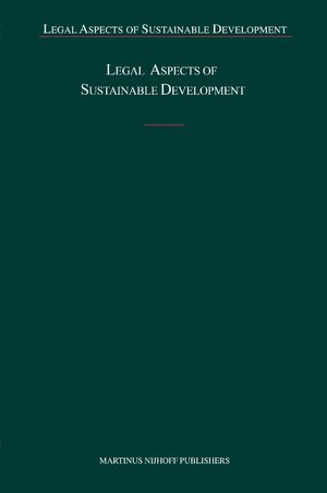 Cover Legal Aspects of Sustainable Development