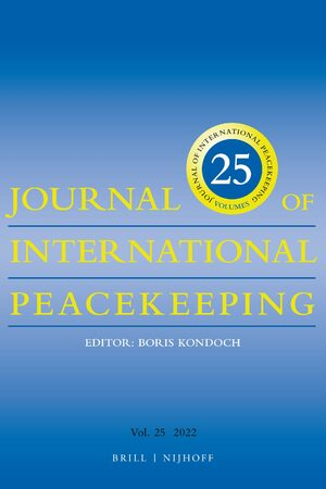 Cover Journal of International Peacekeeping
