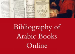 Cover Bibliography of Arabic Books Online