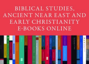 Cover Biblical Studies, Ancient Near East and Early Christianity E-Books Online