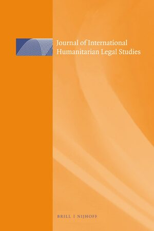 Cover Journal of International Humanitarian Legal Studies