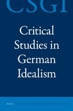 Cover Critical Studies in German Idealism