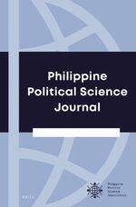 Cover Philippine Political Science Journal