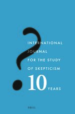 Cover International Journal for the Study of Skepticism