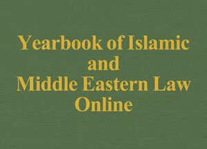 Cover Yearbook of Islamic and Middle Eastern Law Online
