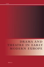 Cover Drama and Theatre in Early Modern Europe