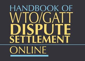 Cover Handbook of WTO/GATT Dispute Settlement Online