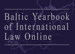 Cover Baltic Yearbook of International Law Online