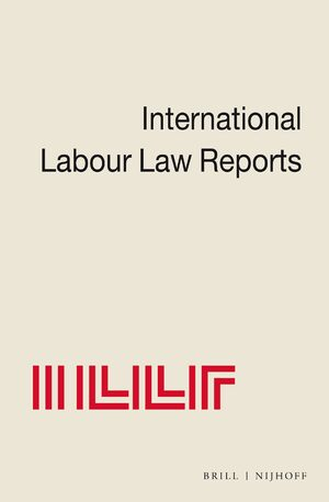Cover International Labour Law Reports Online