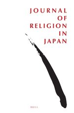 Cover Journal of Religion in Japan
