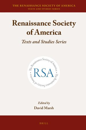 Cover The Renaissance Society of America
