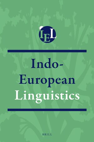 Cover Indo-European Linguistics