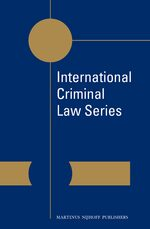 Cover International Criminal Law Series