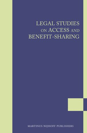 Cover Legal Studies on Access and Benefit-sharing