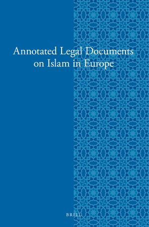 Cover Annotated Legal Documents on Islam in Europe