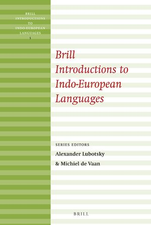Cover Brill Introductions to Indo-European Languages