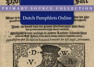 Cover Dutch Pamphlets Online