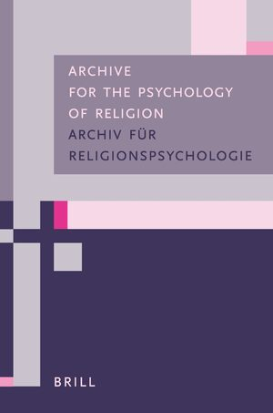 Cover Archive for the Psychology of Religion