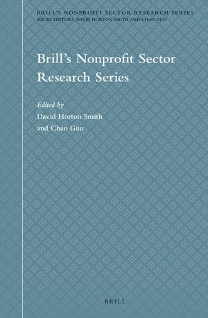 Cover Brill's Nonprofit Sector Research Series
