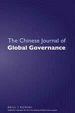 Cover The Chinese Journal of Global Governance