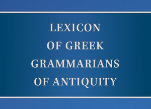 Cover Lexicon of Greek Grammarians of Antiquity