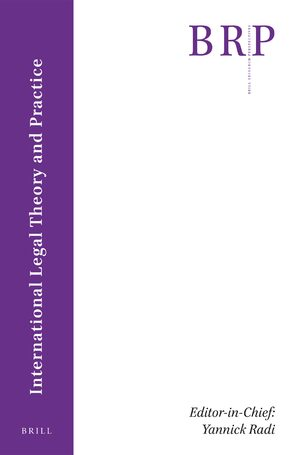 Cover Brill Research Perspectives in International Legal Theory and Practice