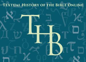 Cover Textual History of the Bible Online